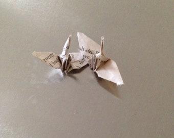 25 small origami cranes