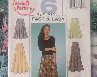 Butterick B4136 sewing pattern ladies skirts in 6 variations