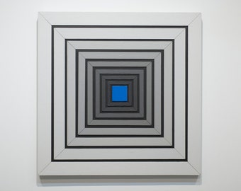 Shades of Grey 11 - original contemporary mixed media painting of acrylic on wood