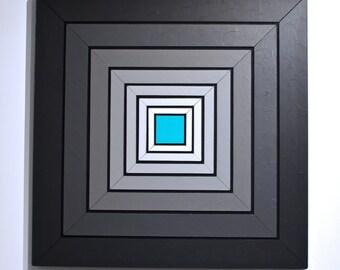 Shades of Grey 10 - original contemporary mixed media painting of acrylic on wood