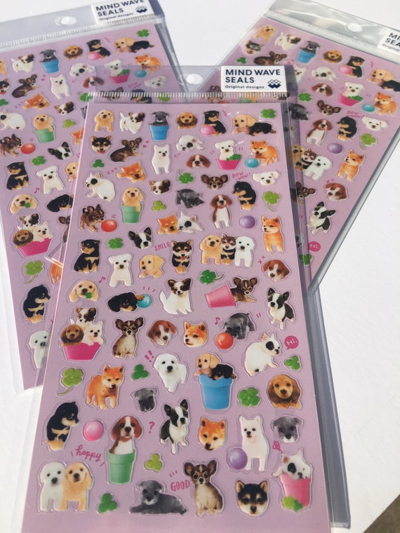 Bichon frise or Chihuahua printed Korean washi tape  for scrapbooking 15mm x 10m decorations