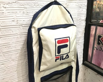 Vintage Fila giant backpack big logo spell out amazing bag Excellent  condition 5b8b043bc9fd8