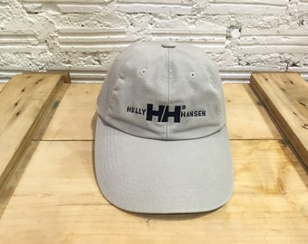 51cf8a28cef Vintage Helly Hansen cap HH logo spell out embroidered adjustable cap  strapback Gray Excellent condition
