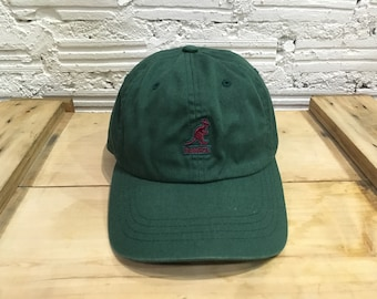 cfb25217704 Vintage Kangol cap embroidered logo leather strapback cap Forrest Green  Purple