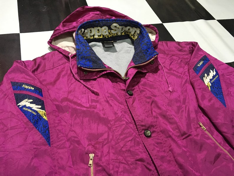 02a8a15fa68b Vintage Kappa track jacket windbreaker spell out on collar