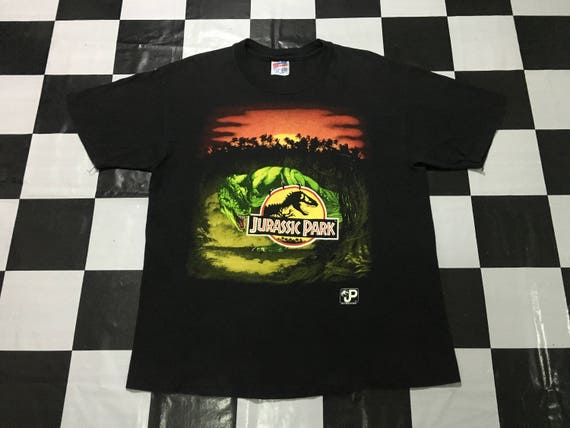 shirt Vintage condition Size T Jurassic in L park rex usa Good Made qFFTwEBg