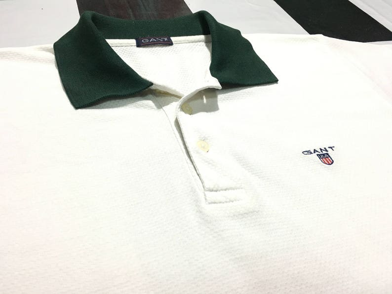 3a10481b50e Vintage Gant polo shirt usa shield logo embroidered Size M   Etsy