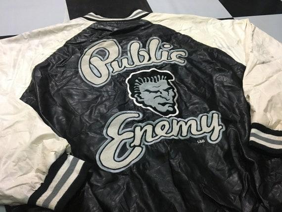 Vintage Public Enemy varsity jacket bomber Size L