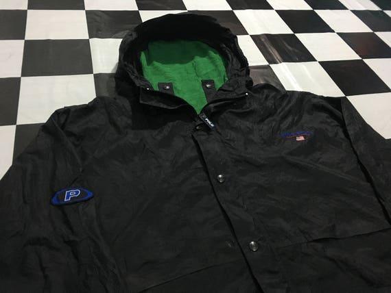 Jahrgang Polo Sport Jacke mit Kapuze Windjacke Pepsi-Logo   Etsy a933a8e6a8