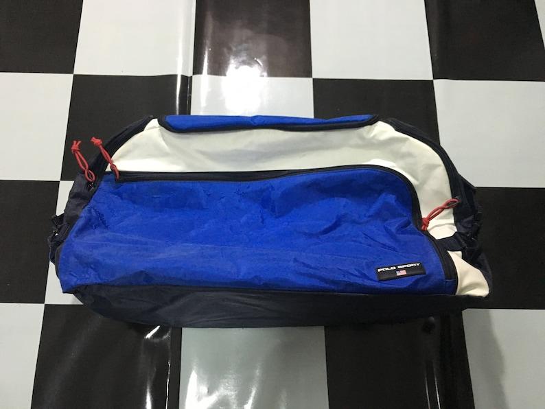 9329fa9c0c Vintage Polo sport duffel bag color block bag spell out logo