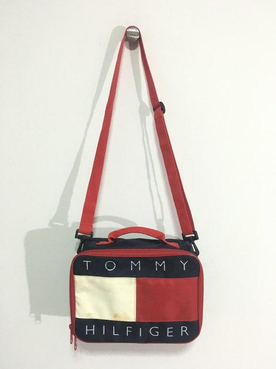 a0f9c8b896c Vintage Tommy hilfiger crossbody bag big flag logo Good   Etsy