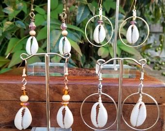 Cowry Shell Earrings - Cowrie Shell Earring Options