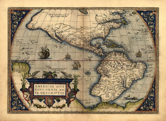1st map to show Americas /& Antarctica 24 X 36 High Gloss Poster Piri Reis Map