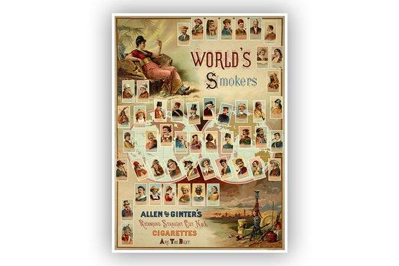 Retro Tabak Keukens : Oude sigaret reclame poster vintage stijl print tobacco etsy
