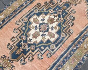 5x7 Turkish Vintage Oushak Rug,5x7 Oushak Rug,5x7 Rug,Turkish Rug,Vintage Rug,Bohemian Turkish Rug,Anatolian Rug,5x7 Carpet, Oushak Rug17667