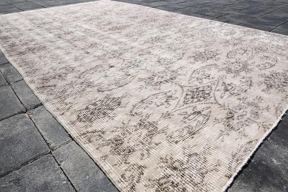 Fußboden Teppich Yasin ~ Beige Überfärbt beige Überfärbt teppich etsy