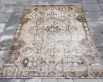 Oushak Rug,3'4x5'3Feet,Anatolian Rug,Distressed Rug,Overdyed Rug,Area Rugs,Vintage Rug,Turkish Rug,162x104 cm,ColorReform,Wool Rug, 1192