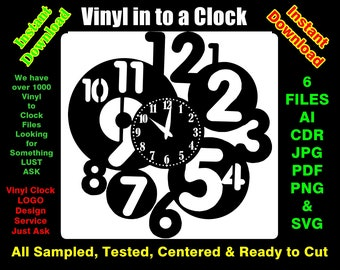 Vinyl Record to Clock Circles 6 File formats, cut, tested, centred & Ready to cut R36