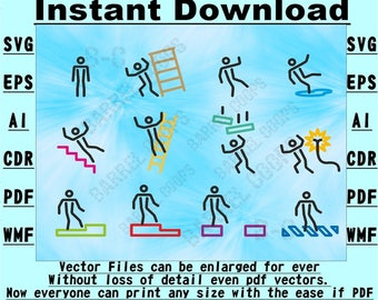 Health & Safety signs!  SVG Vector Stencil Instant download 6 file formats Drawing/cutting files #1