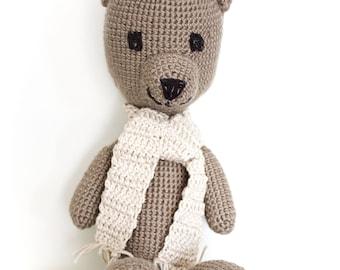 Bear crochet toy