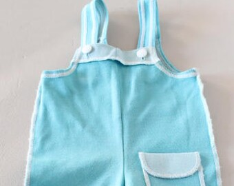 Dungarees blue sky, baby overalls, vintage dungarees, baby clothes, vintage baby clothes, birth gift, vintage overalls, vintage dugarees