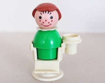 little people, fisher price vintage, dentist little people, vintage toys, little people figurine, girl little people, green little people
