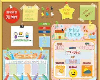 Montessori Kids Calendar, Waldorf Preschool Calendar for Kids, Learning Seasons,  Home school Curriculum, Instant Download, Personalized