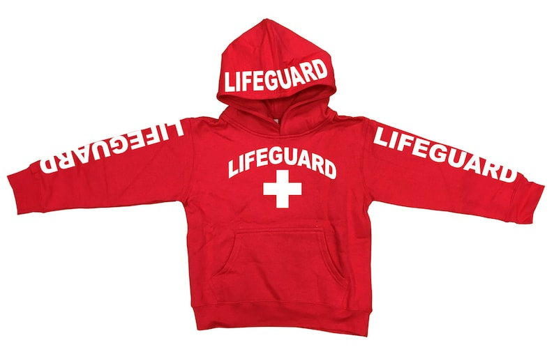 b91a426bf81814 Kid s Youth Red Lifeguard Hoodie