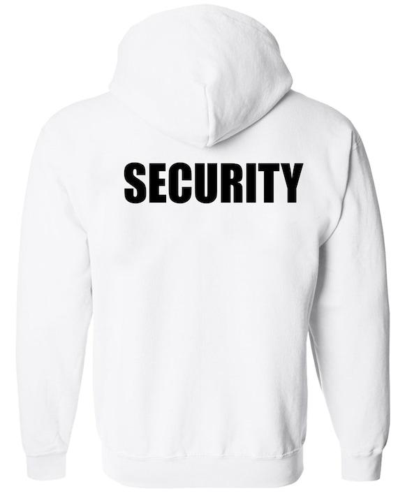 NEW MEN/'S SECURITY PULLOVER HOODIE JACKET BEACH SAFETY STAFF SWEATER SWEATSHIRT