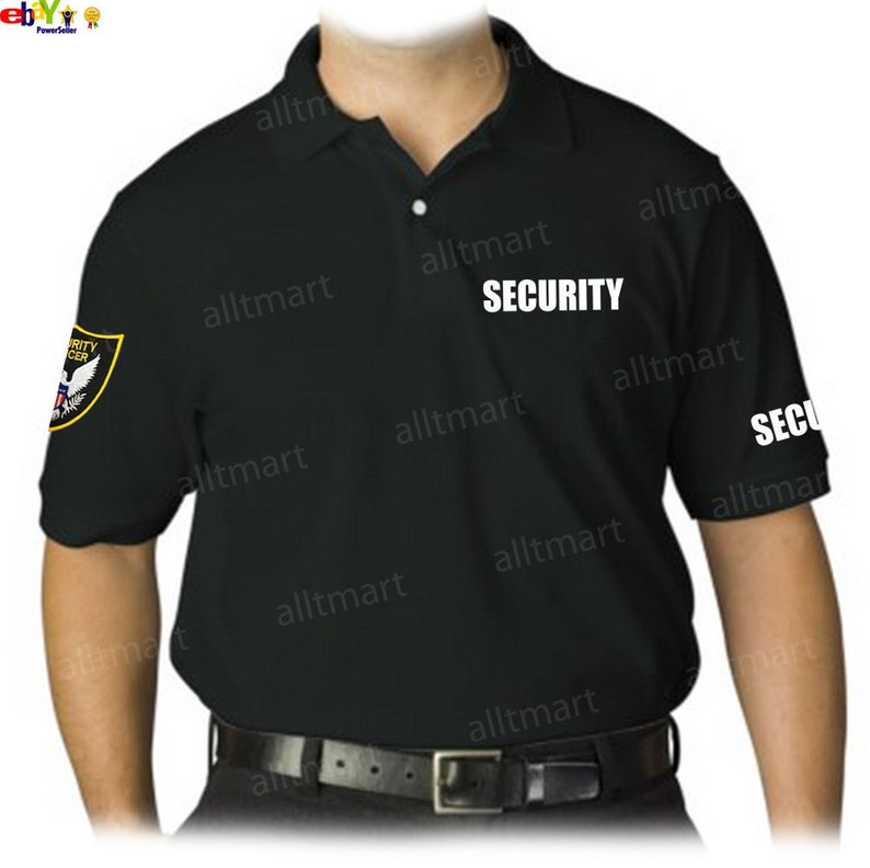 7131a04c Security Officer Polo T-Shirt Graphic Printed w/ Embroidered | Etsy