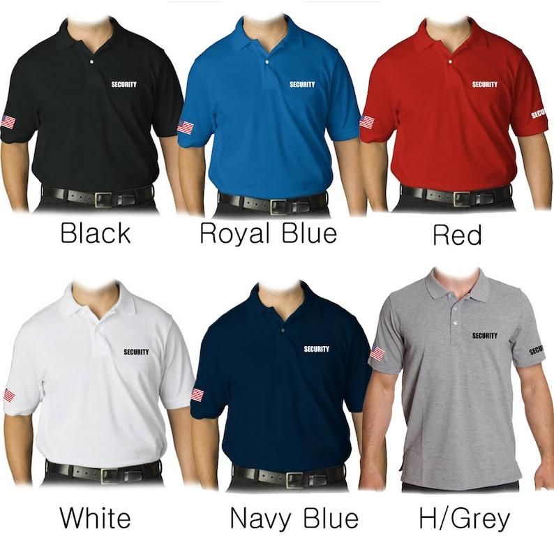 5e5f724d American Security Polo Shirt Black/ Gray/ Navy/ Red/ Royal   Etsy