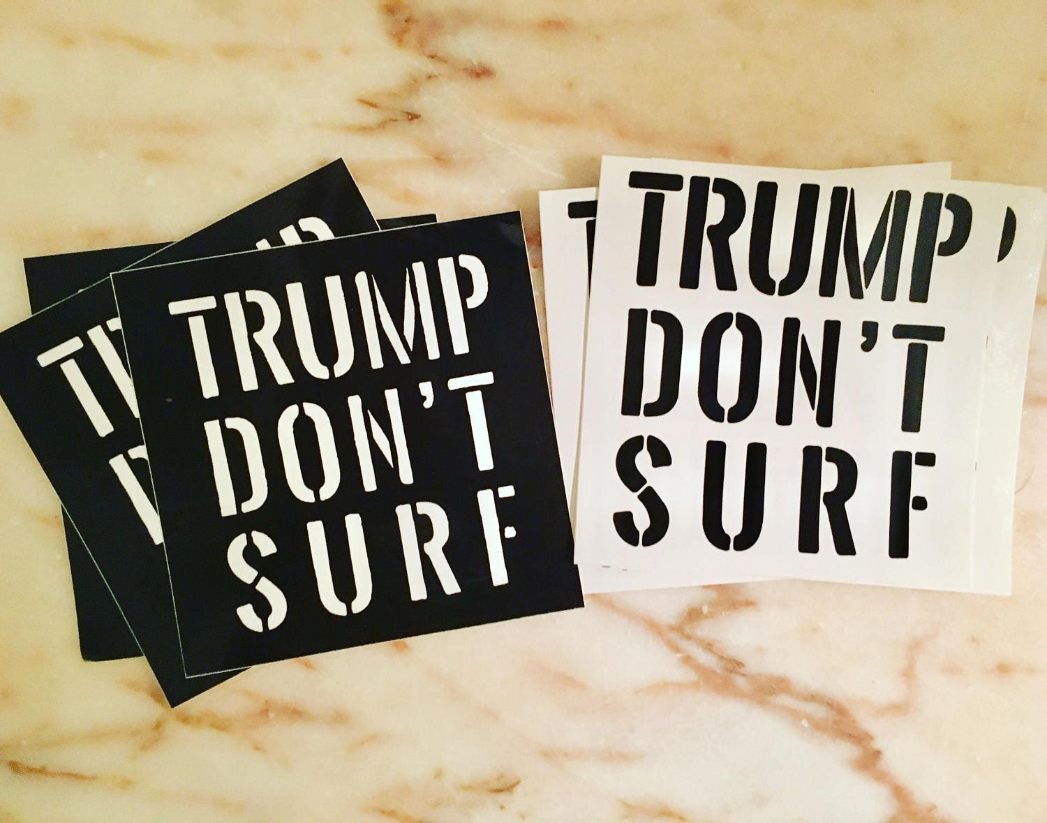 Trump dont surf bumper stickers