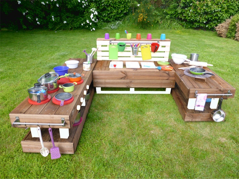 Outdoorküche Garten Xl : Palettenmöbel kinderküche xl aus holz für garten etsy