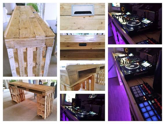 DJ Pult aus Paletten – Tresen Tisch Palettery