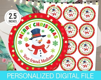 christmas gift tags stickers etsy