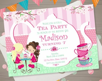 tea party invitation tea party birthday invitation tea party invite birthday tea party ideas tea party printables girls tea party supplies