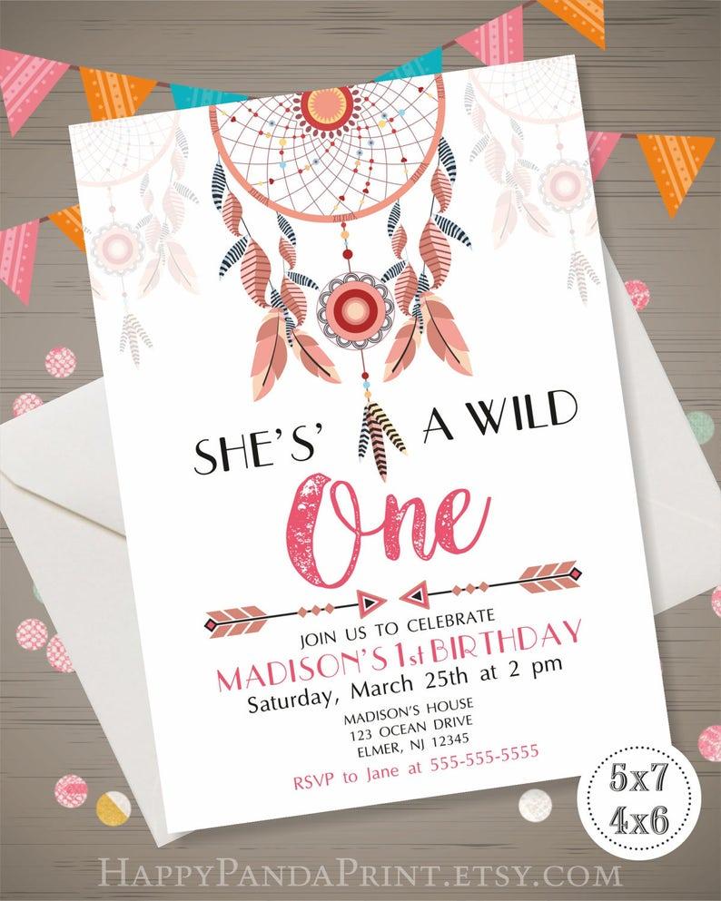 Wild One Invitation Birthday Party Invite