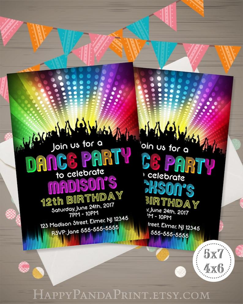 dance party invitation disco party invitation disco dance