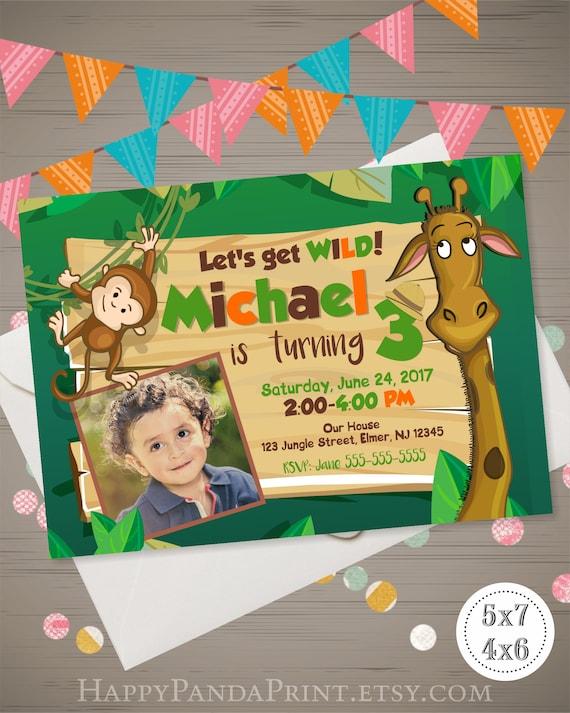 Jungle birthday invitation zoo birthday invitation zoo etsy image 0 filmwisefo