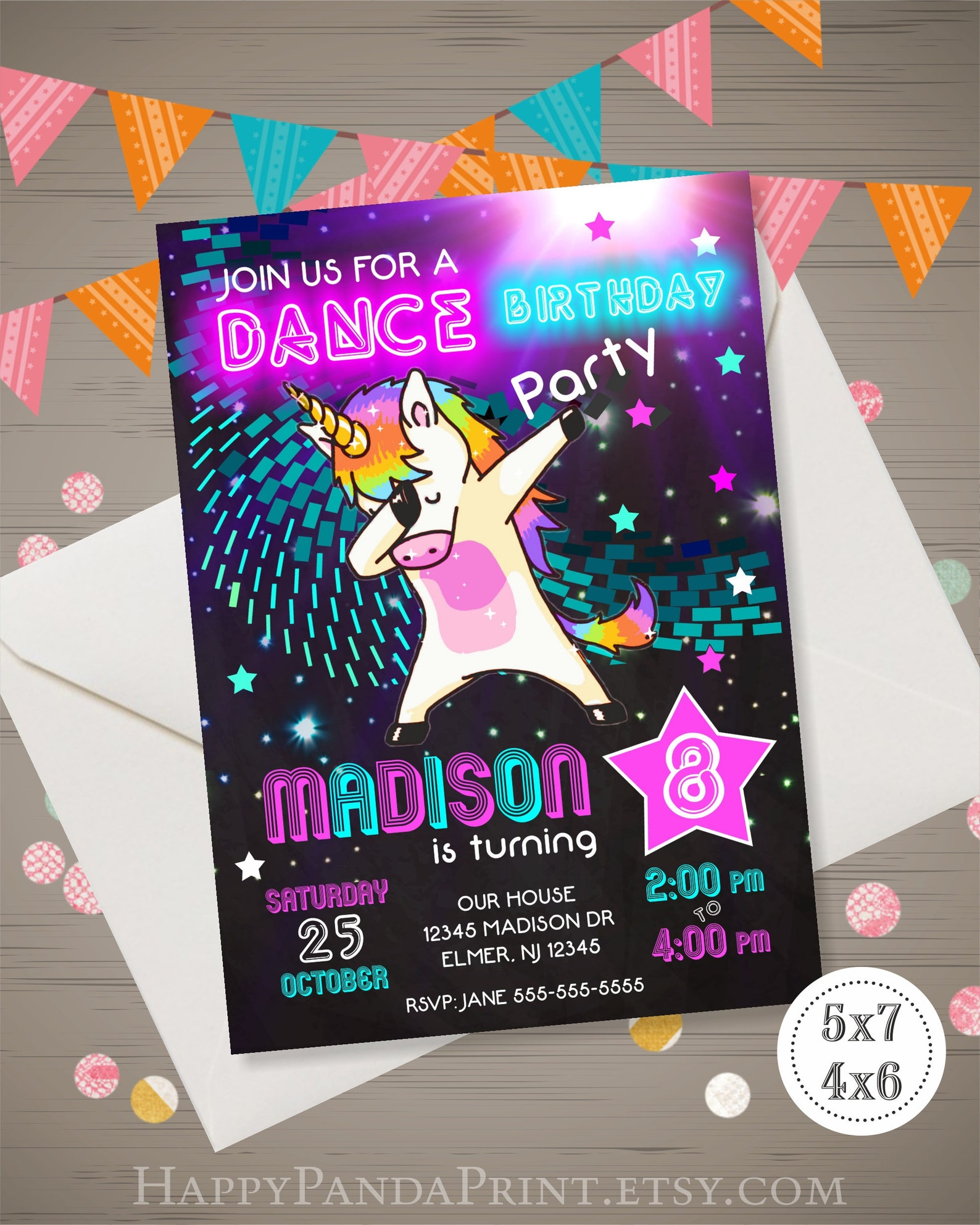 Printable Unicorn Invitations Page Four