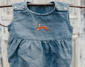 dca39eb57a70 Linen Romper, Hand Embroidery, Baby Romper, Girl Romper, Linen Kids  Clothing, Linen Baby Clothes, Linen Baby Romper, Boy Romper, Kid Romper