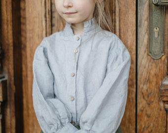 Linen Blouse Giulia for Girls