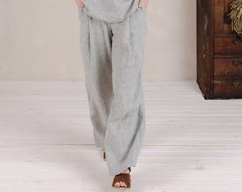 Linen Pleated Pants Amber for Kids  more colors available