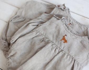 2d9e265c1e51 Linen Romper, Natural Baby Romper, Baby Romper, Linen Kids Clothing, Linen  Baby Clothes, Boy Romper, Girl Romper, Toddler, Hand Embroidery,