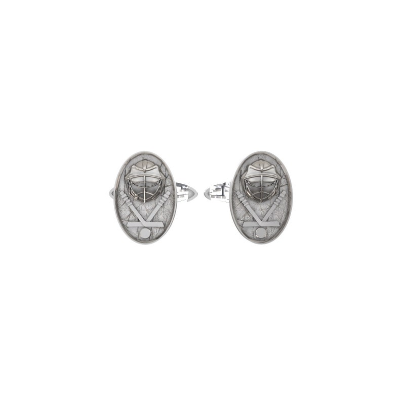 4f95081a0743 Hockey cufflinks 925 Sterling silver Men jewelry gift for ice