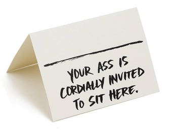 Seating Cards Place Cards Funny (Pack of 8) Your Ass