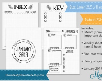 Printable Bullet Journal Planner Template Sheets Circle Etsy