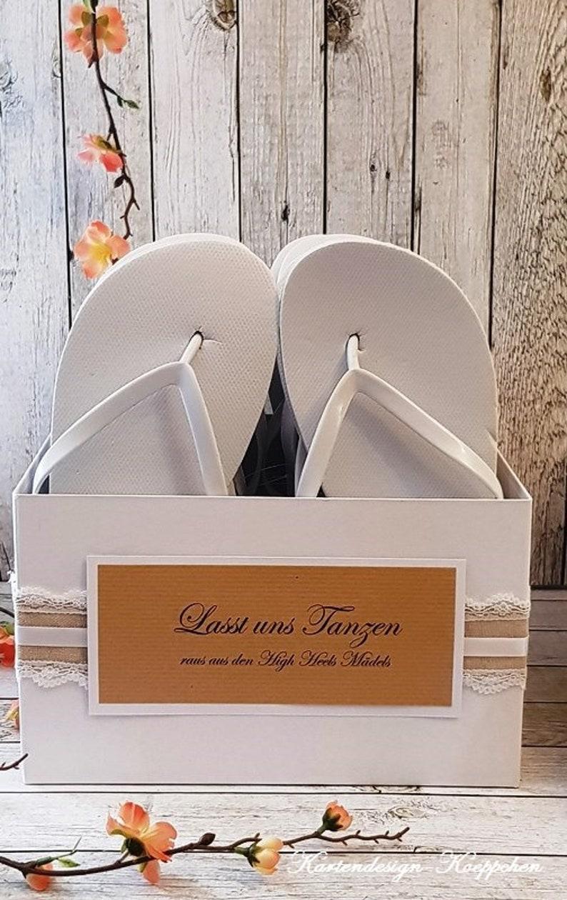 69fe9648822c8c Flip Flop Box 10 pairs of white flip flops for wedding