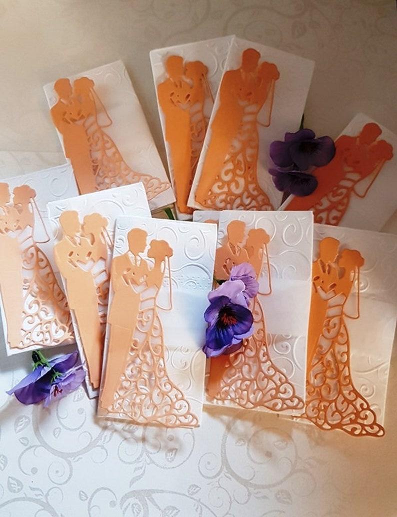 10x happy tears handkerchiefs wedding couple embossed for the wedding TT101