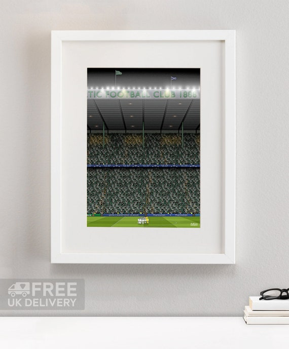BUY 2 GET ANY 2 FREE CELTIC PARK STADIUM POSTER ART PRINT A4 A3